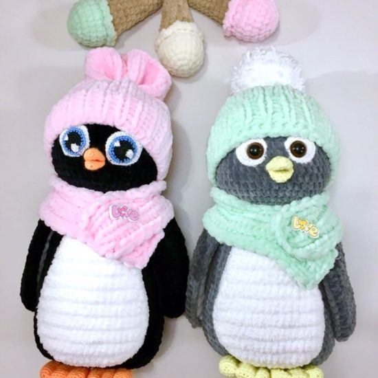 "Амигуруми ""Пингвинчики"" два цветовых варианта"