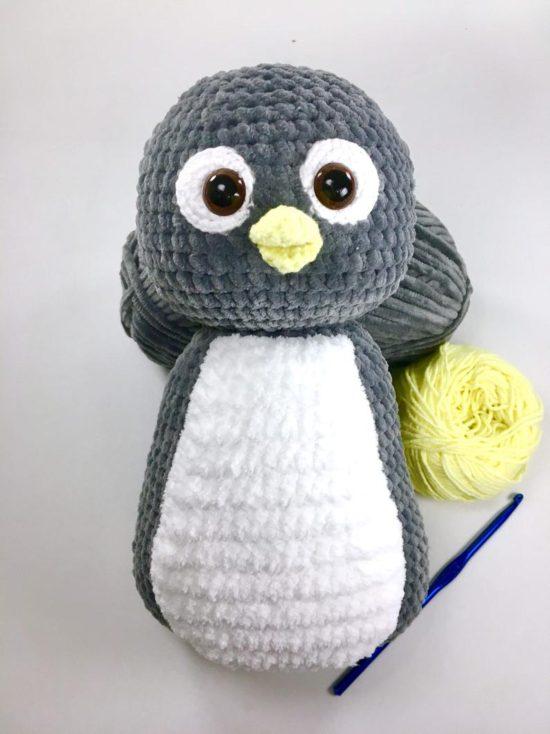 вязание крючком тело пингвина амигуруми