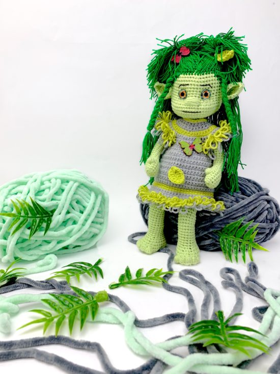 """Мастер-класс """"Кукла ведьмочка и кикимора крючком"""" от LanaMi toys"""