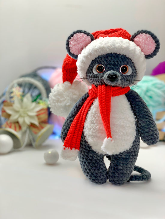 Мышонок амигуруми крючком от LanaMi toys