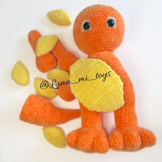 LanaMi toys - Мастер-класс Динозаврик крючком