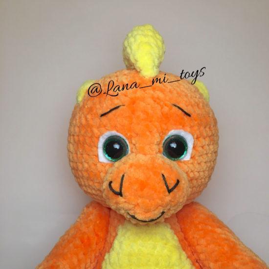 Мастер-класс Динозаврик крючком - LanaMi toys